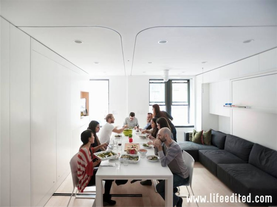 Comfortably Seat Ten in Your Micro Apartment - LifeEdited
