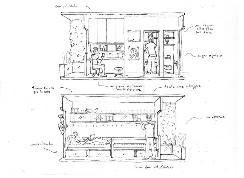 Small space design provides escape route for italian for Escape room design