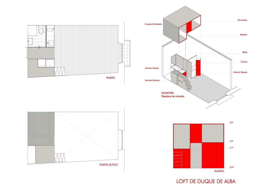 Real cool madrid micro loft lifeedited for Plan de loft