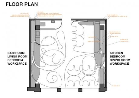 Pop Up Apartment Floorplan