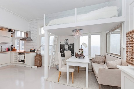 ett rom til-kitchen-loft
