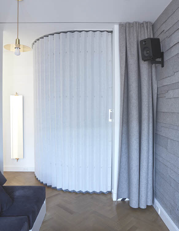 Curtains Ideas accordion curtain : Hufcor Accordion Wall – Instant Visual and Acoustic Privacy ...